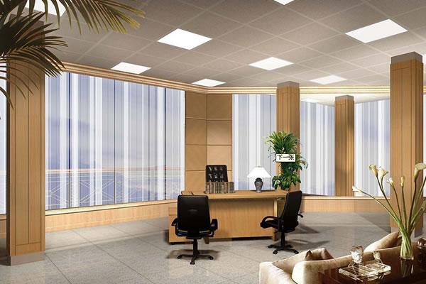 (2)办公室座位后面宜有靠(墙或柜)