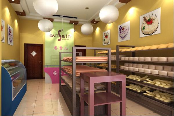 蛋糕店装修中更要注意店面的整洁和环保材料的运用,给顾客一种健康、温馨的环境体验。一般情况下,喜欢蛋糕的多以妇女儿童居多,所以一般蛋糕店的装修色调都以健康明朗轻快的暖色调为主,所以要从这些方面多下些功夫。一般情况下,在整体蛋糕店装修上,蛋糕店应该采用透光较好的玻璃做外墙。这样,不但给人视觉上的美感,而且也有拓展空间的效果,并且给人窗明几净的第一印象。糕点铺,一个简洁大方高雅时尚的蛋糕展示柜,虽然可以迅速提高蛋糕店的品位,但是,如果不注重店铺的整体效果和产品本身的质量,那么,对于店铺的商业效应也是有影响的。