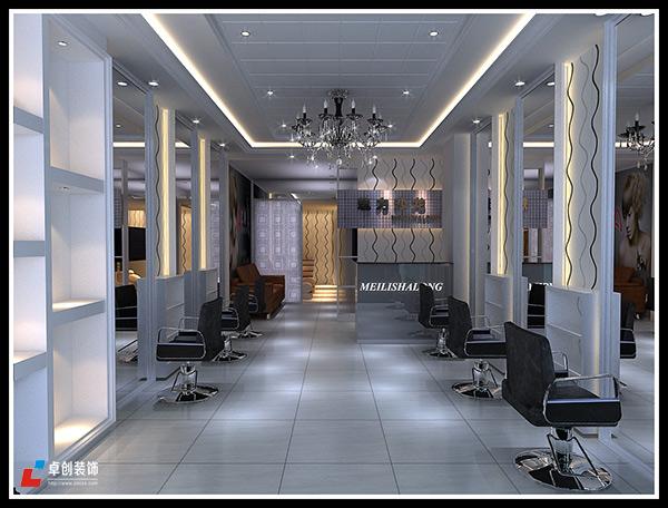 合肥理发店装修案例-魅力造型理发店