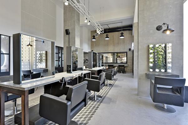后现代风格的美发店装修设计案例