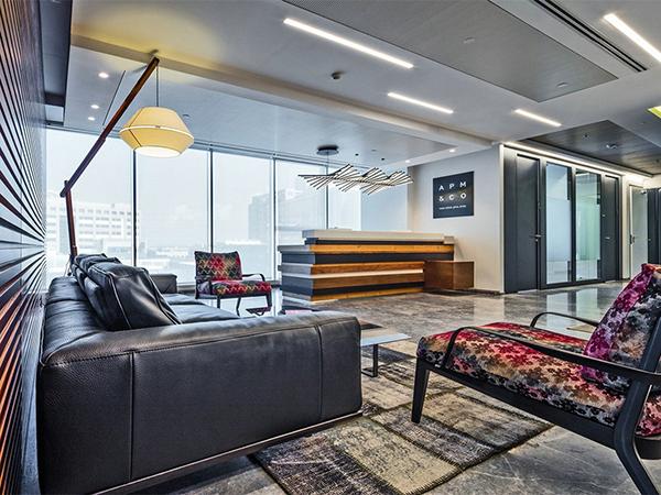 前台办公室装修效果图-合肥卓创装饰公司