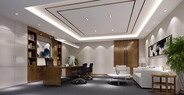 办公室总经理室装修设计图-卓创装饰