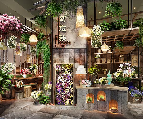 合肥鲜花店装修-小型花店装修风格