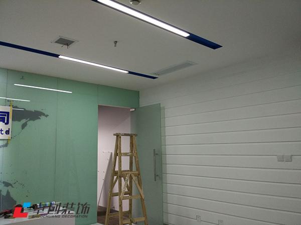 1300平办公室荣誉墙装修改造