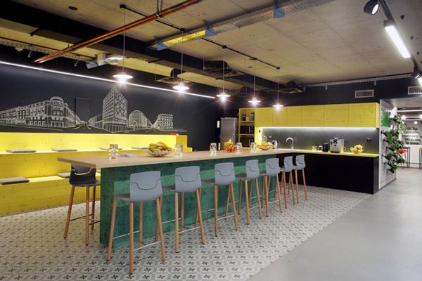 办公室设计过程当中色彩的搭配原则