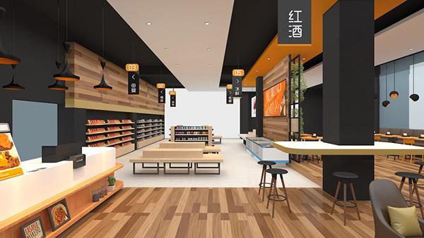 600平方超市装修设计