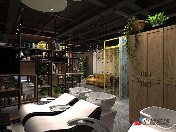 合肥工业风美发店装修设计哪家专业