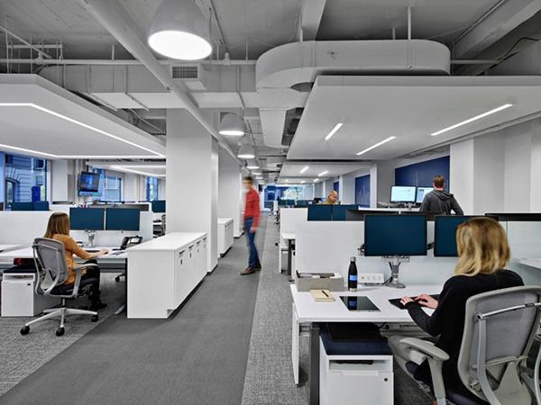 合肥办公室装修设计如何在办公室中创造出空间感?