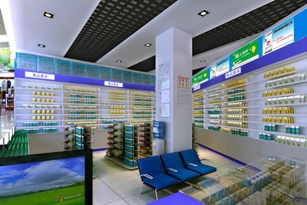 药店内部装修效果图-合肥卓创装饰公司